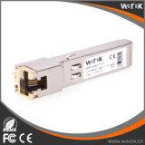 비용 효과적인 SFP 구리 송수신기 10/100/1000Base-T RJ-45 연결관