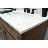 Parte superiore artica di marmo di vanità della stanza da bagno del doppio dispersore di Undermount del quarzo di Carrara