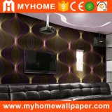 Het hoogwaardige Gouden 3D Behang van pvc voor KTV/Bar/SPA