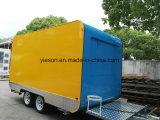 Al Vrachtwagen van het Voedsel van het Roestvrij staal van Muren voor Verkoop Saudi-Arabië