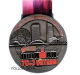 La medaglia di maratona del Sam Francisco. Doppi lati, stazione di finitura