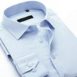 Chemises de robe formelle pures d'affaires de couleur de modèle de coton neuf de sergé