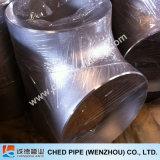 Té industriel sans joint de garnitures de pipe d'acier inoxydable