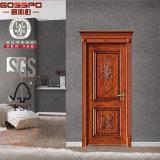 Os EUA abrigam a porta de madeira cinzelada do quarto com projeto da flor (GSP2-022)