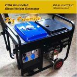 De grote Diesel van de Machine van de Bevordering 200A Luchtgekoelde Generator van de Lasser