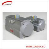 Aleación de aluminio Tipo de válvula rotativa actuador neumático