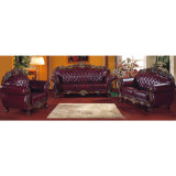 Sofà domestico con il blocco per grafici del sofà e la Tabella di legno del lato (929D)