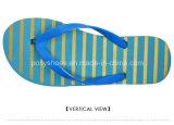 Neuer Dame-Streifen-Druck-Sommer-hawaiische Flipflop-Strand-Abnützung