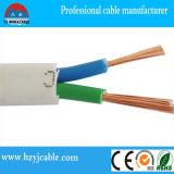 Fil électrique avec la conduite de cuivre, câble électrique, fil rond d'isolation de PVC (BVVR)