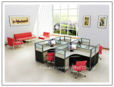 Рабочей станции офиса мебели кабина деревянной 2 Seater высокой стены малая (HF-YZV066)