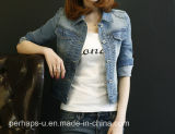 Mujeres Denim Chaqueta Vaquera Tops Casual Coat