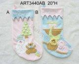 Meia do Natal dos bebês primeira, 3asst, presente da decoração da meia do boneco de neve do Natal de Stockingbabies do Natal primeiro, -3asst