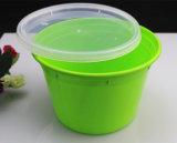 Qualitäts-grüne Farben-Mikrowellen-sicherer Plastikwegwerfnahrungsmittelbehälter