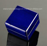 Новой коробка Jewellry коробки кольца типа 2017 глубокой голубой подгонянная коробкой деревянная с светом