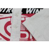 عادة رجال بيضاء نمط طباعة قطر لعبة البولو [ت] قميص