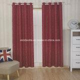 2016 del color rojo de diseño moderno cortina de ventana Tela