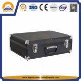Nueva caja de herramientas de aluminio negra con la espuma llena del 100% (HT-1115)