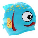 Chapeaux de natation hautement élastiques et superbes estampés par logo adulte coloré de silicones d'extension