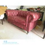 Sofá moderno do couro da mobília da sala de visitas ajustado (HW-6651S)
