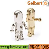 Gift를 위한 금속 Golden Robot Shape USB Flash Memory