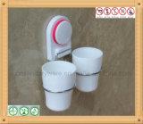 Carrinho ajustado da montagem da parede do suporte do Toothbrush com copo da sução