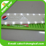 OEM 로고 연약한 PVC 고무 바 매트에 의하여 조명되는 LED Placemat
