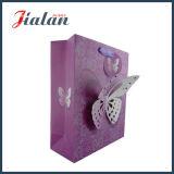 Бабочка подгоняет мешок высокого качества конструкции дешевый напечатанный 3D бумажный