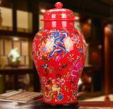 Китайское Antique Furniture Ceramic Vase с Ancient Colorful Painting Mt-8