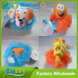 Da bolha fina dos desenhos animados das crianças de pano de toalha do PE esfera animal do banho