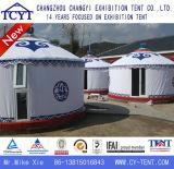 Ecotípica acampar al aire libre de eventos de lujo grandes de Mongolia Yurt Carpa