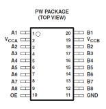 전압량 통역 IC의 직접 회로 Txs0108epwr