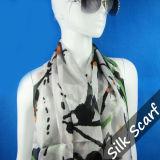 Silk chiffon largo Scarf con Highquality