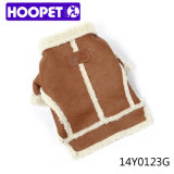 Brown PU Puppy Clothing für Pet Dog T-Shirt