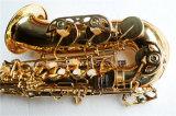 Musique de Hanhai/saxophone en laiton alto d'or avec la clé d'eb