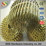 Il prezzo competitivo ha galvanizzato il chiodo della bobina verniciato il colore giallo della tibia dell'anello