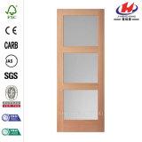 Porta de madeira moldada folheado de HDF Sloid