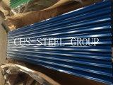 Painel da telhadura do metal da cor do material de construção/chapa de aço ondulada Prepainted