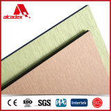 建物Materials SilverかGolden Brushed Color ACP (Aluminum Plastic Composite Panel)