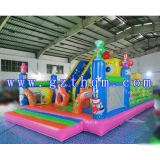 Child Cartoon Inflatable Jumping Bed / 0.55mm PVC gonflable Bouncer Castle