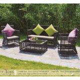 アルミニウムフレームの大きい円形の藤のソファーの庭によって使用されるテラスの家具