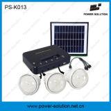 3bulbs를 가진 휴대용 Li 이온 건전지 홈 태양 에너지 시스템