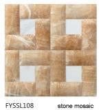 Плитка Мозаики Камня Мрамора Строительного Материала Столетия Лоснистая для Плакирования Стены (FYSSL001)