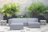 Ensemble sélectif de sofa de cuir moderne de patio