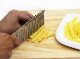 Slicer ondulado do cortador da dobra vegetal inoxidável da batata da lâmina da cenoura da massa de pão da microplaqueta das ferramentas dos acessórios da cozinha