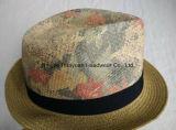인쇄된 바닷가 작풍 중절모 밀짚 모자