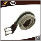 合金Pinのバックルが付いている高品質の人の綿の編みこみのベルト