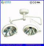 Precio quirúrgico de la luz del funcionamiento del techo principal doble frío Shadowless del halógeno