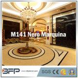 Mattonelle di marmo spesse di Nero Marquina 10mm per le mattonelle della parete, stanza da bagno che circonda, mattonelle di pavimentazione interne