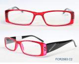 Vidros de leitura de alta qualidade elegantes com teste padrão, logotipo feito sob encomenda, FDA e Ce, alguma cor Fcr2083