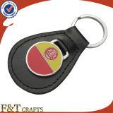 Het goedkope Nieuwe Ontwerp China vlechtte het Metaal Keychain van het Leer van de Douane (FTKC1859A)
